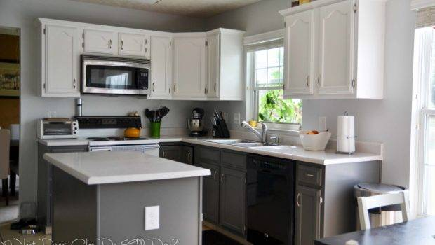 Painted Kitchen Cabinets Before After Does She All Day