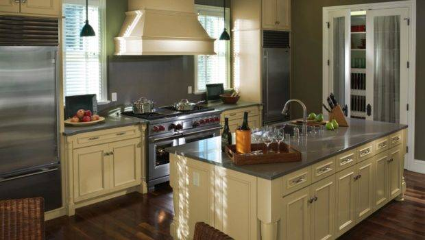 Painted Kitchen Cabinets Wide