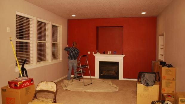 Painted Living Room Red