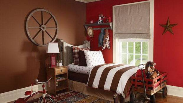 Painting Kids Room Ideas Red Walls