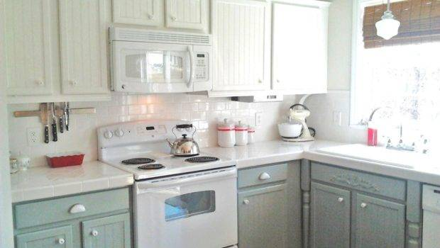 Painting Kitchen Cabinets White Gray