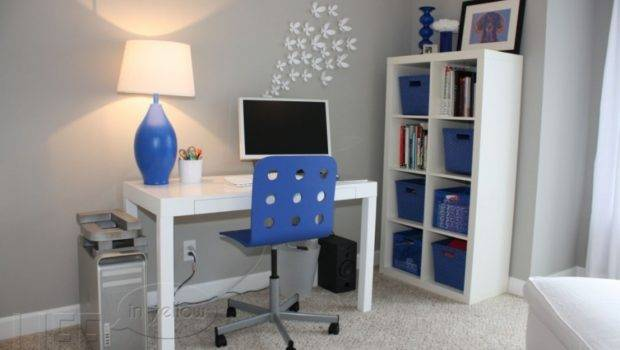 Painting Minimalist Home Office Best Gray Paint