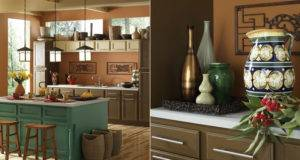 Painting Photograph Dark Brown Colors Kitchen Walls