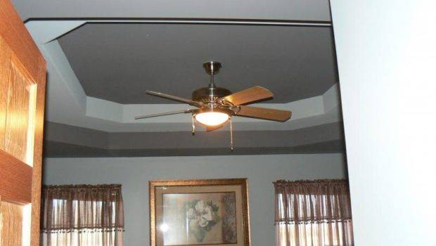 Painting Tray Ceiling Different Color Panels Paint Wainscot