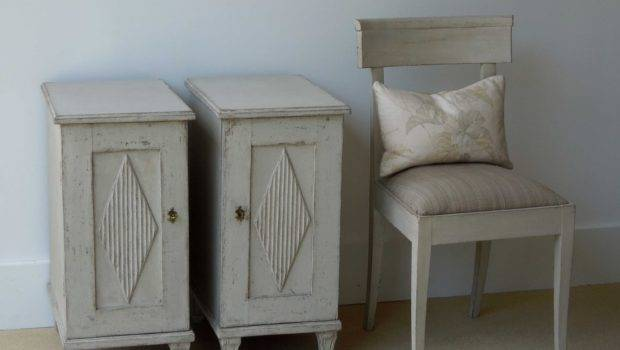 Pair Narrow Nightstands Perfect Small Bedroom