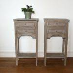 Pair Small Painted Bedside Tables Sold