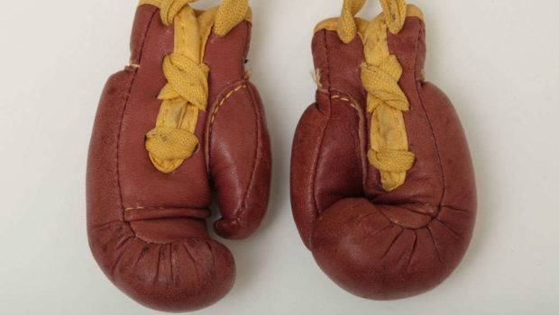 Pair Wilson Miniature Leather Boxing Gloves Stdibs