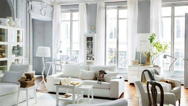 Pairing Mostly White Contemporary Furniture Traditional Crystal