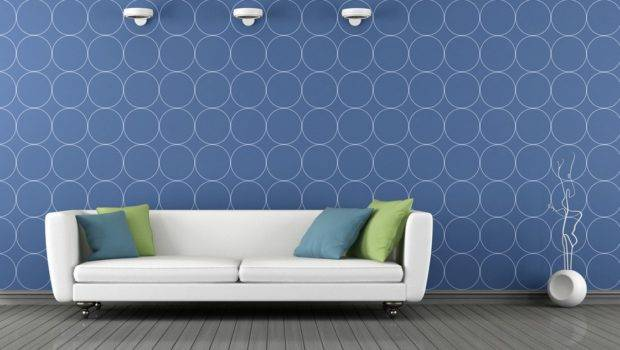 Pale Blue Wall Interior Decoration