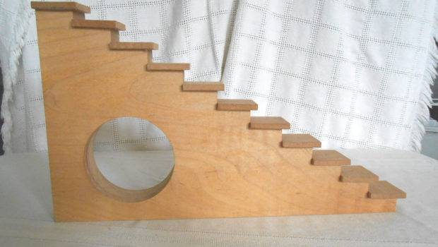 Patrick Handcrafted Wood Step Stair Style Wall Shelf