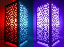 Pattab Laser Cut Acrylic Table Hanging Lamp Volumes Ebay