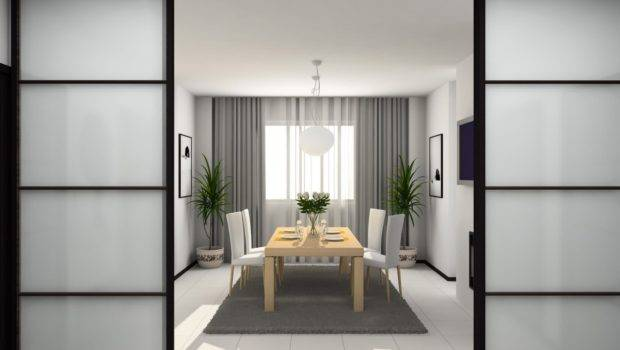 Peaceful Japanese Style Dining Room Kitchen Design Ideas