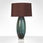 Peacock Feather Table Lamp Brown Silk Shade Lovinglighting