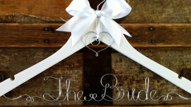 Personalized Bridal Hanger Custom Wedding Dress Blackscrapcat