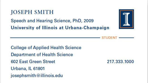 Phd Business Card Student Should