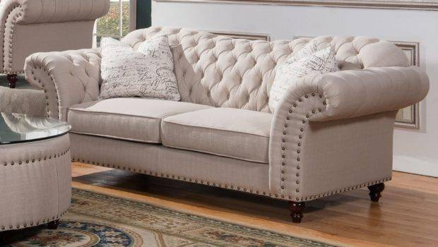 Phelps Tufted Fabric Sofa Mcferran Usa Furniture
