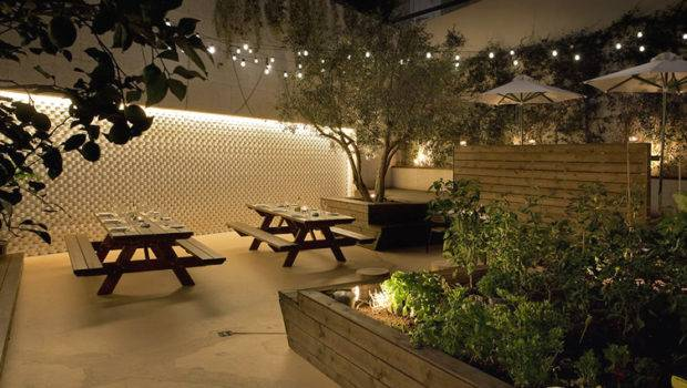 Picnic Table Ambient Lighting Hospitality Design Commercial