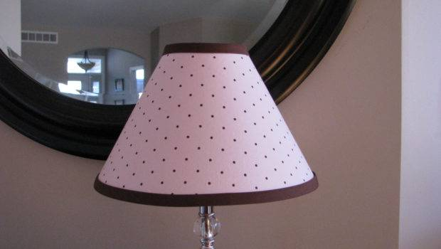 Pink Brown Polka Dot Lamp Shade Zacharydickorydock Etsy