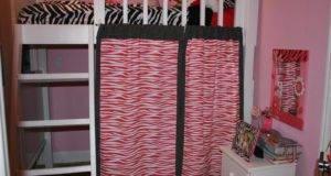 Pink Color Bunk Bed Curtains Stroovi