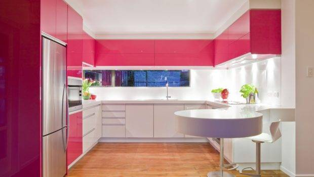 Pink Kitchen Decorating Ideas Combined White Completed