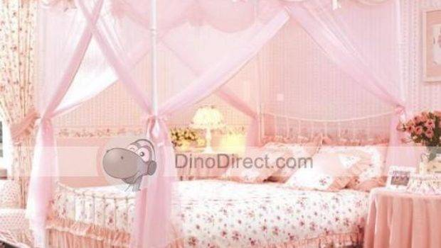 Pink Poster Bed Design Decoration