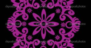 Pink Symmetrical Simple Design Vector Pas