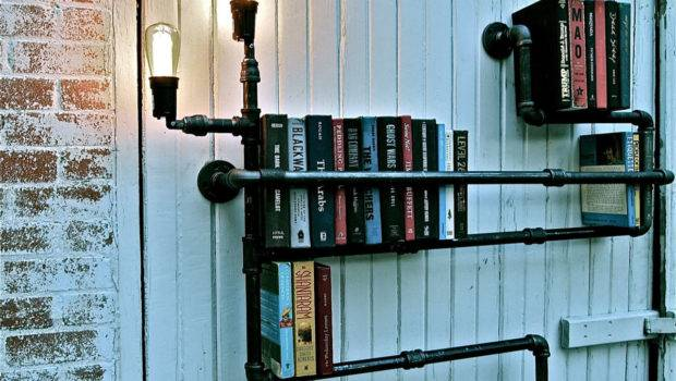 Pipe Lamp Bookshelves Decoration Decosee