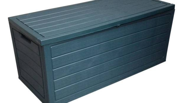 Plastic Storage Boxes Lid Utility Chest Outdoor Container Shed