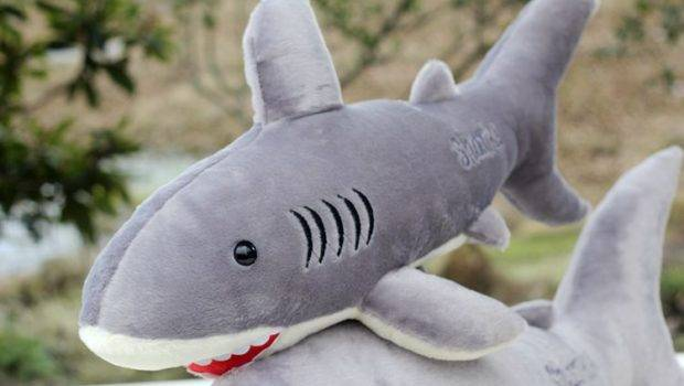 Plush Doll Cartoon Little Sea Shark Hold Pillow Fish Home