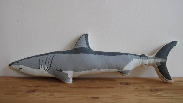 Plush Shark Pillow Shannonbroder Etsy