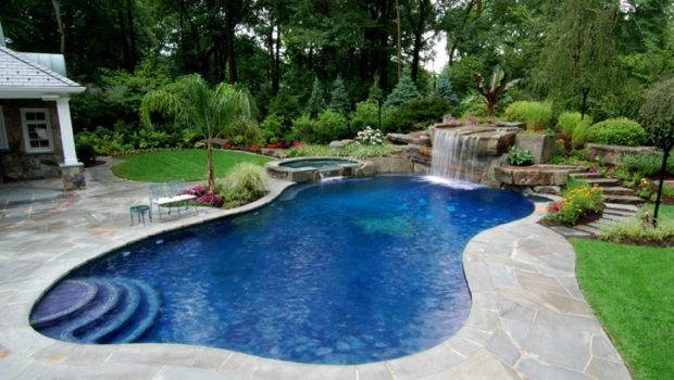 Pool Landscaping Ideas Natural Outdoor Extraordinary Modern
