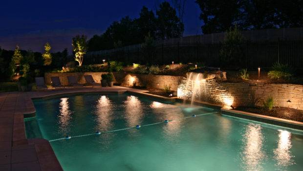 Pool Lighting Area Landscaping