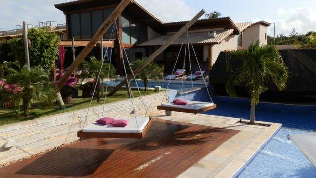 Poolside Swing Beds Restaurant Travel Places Pinterest
