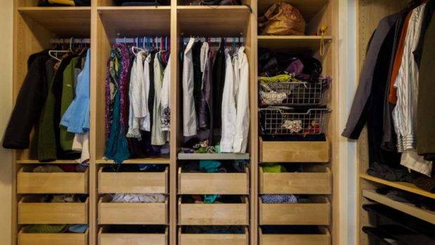 Popular Built Kind Closet Cherry Wood
