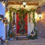 Porch Decorated Christmas Garland
