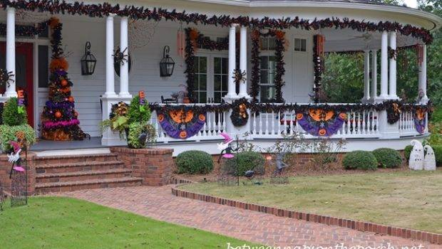 Porch Decorated Halloween