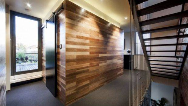 Powerful Wood Covered Walls Warehouse Home Interior Design