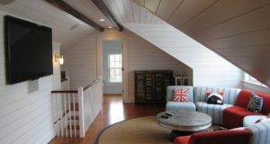 Practical Attic Living Space Design Ample Ventilation
