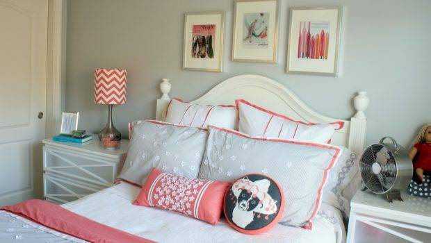 Pretty Coral Gray Bedding Abigail Selected Her Room