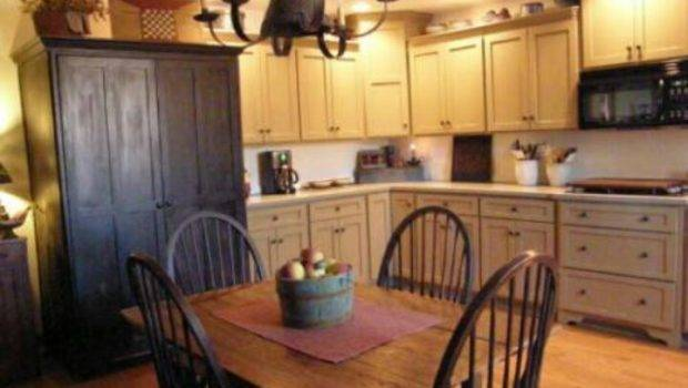 Primitive Colonial Kitchen Forever Home Ideas Pinterest