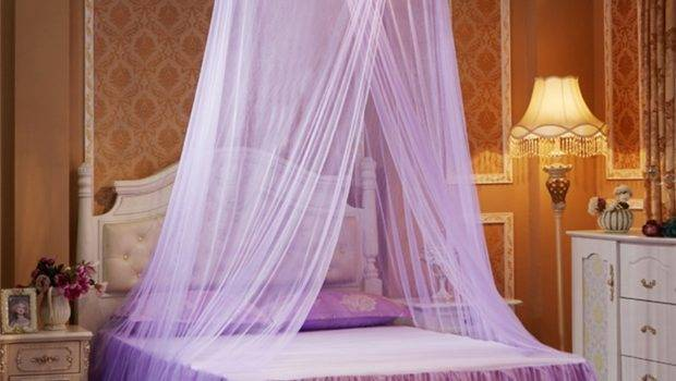 Princess Hanging Round Lace Canopy Bed Netting Comfy