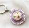 Purple Cake Folding Purse Hook Cute Keyholder Gift Her Kawaii