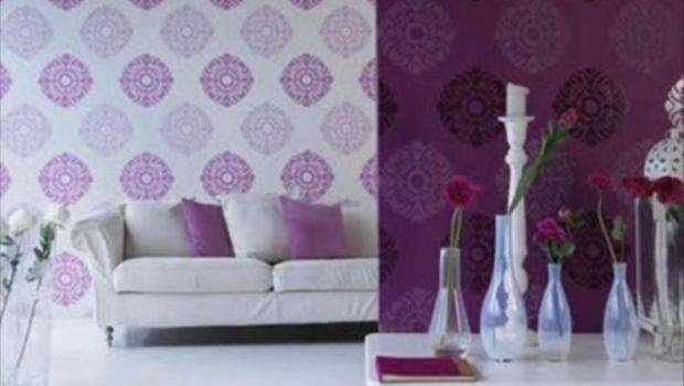 Purple Living Room Decorating Ideas Floral