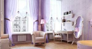 Purple Living Room Furniture Antique Apartment Bedroom
