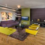 Purple Modern Living Room Decorating Ideas Interior Design