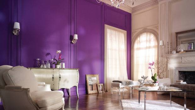Purple Wall Painting Ideas Beautiful Home Decoration