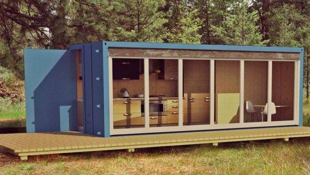 Purpo Ships Container Cabin Allweath Dogs Manufactured Home