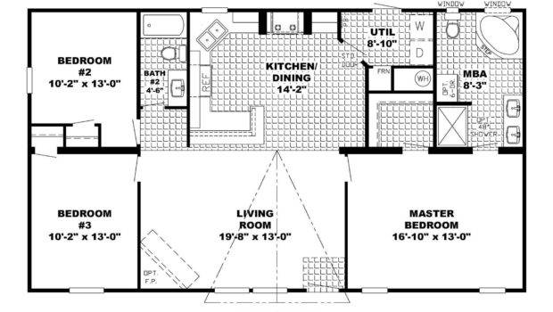 Ranch Style House Plans Basement Open Floor
