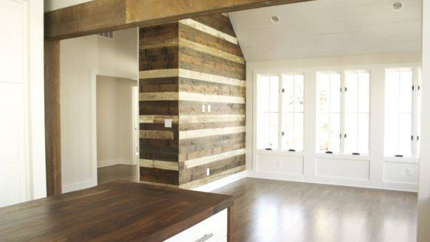 Reclaimed Wood Accent Wall Antique Beam Room Divider
