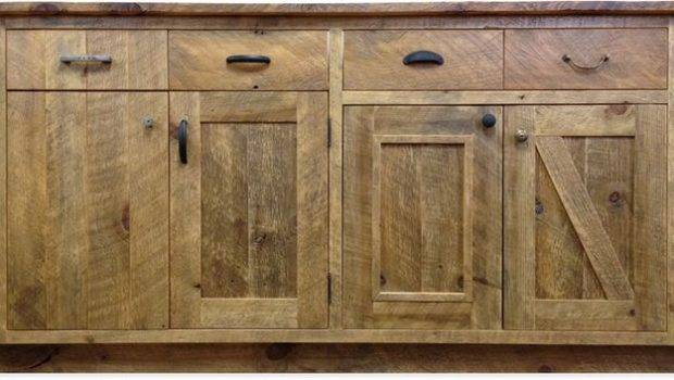 Reclaimed Wood Cabinets Kitchen